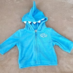 Gymboree shark fin zip up jacket